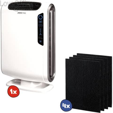 Kit 1x Purificatore d'aria AeraMax DX55 + 2x confezioni da 4 Filtri di ricambio al carbone attivo