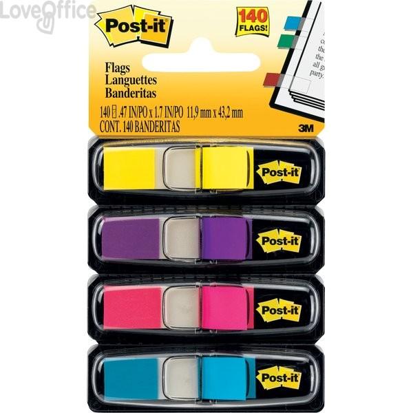 Segnapagina Post-it® Index Mini 683 - azzurro, fucsia, giallo, rosa (conf.4 da 35 fogli)