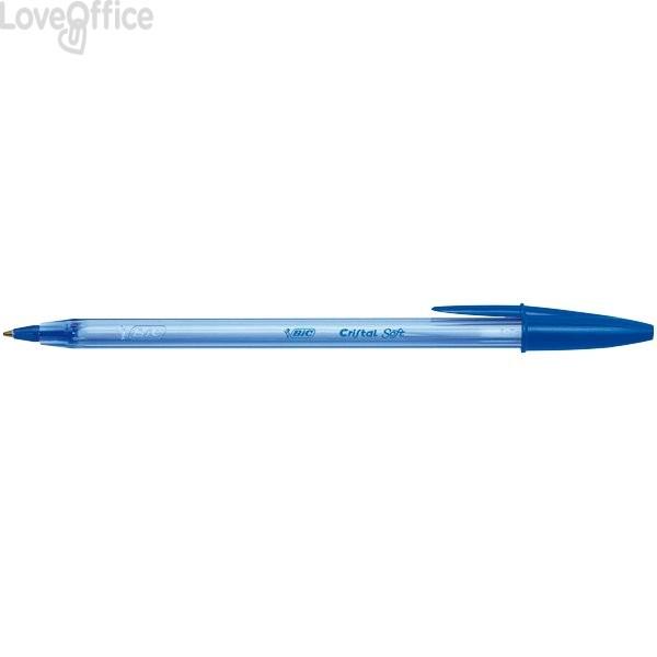 Penne a sfera Cristal Soft Easy Glide Bic - Blu (conf.50)