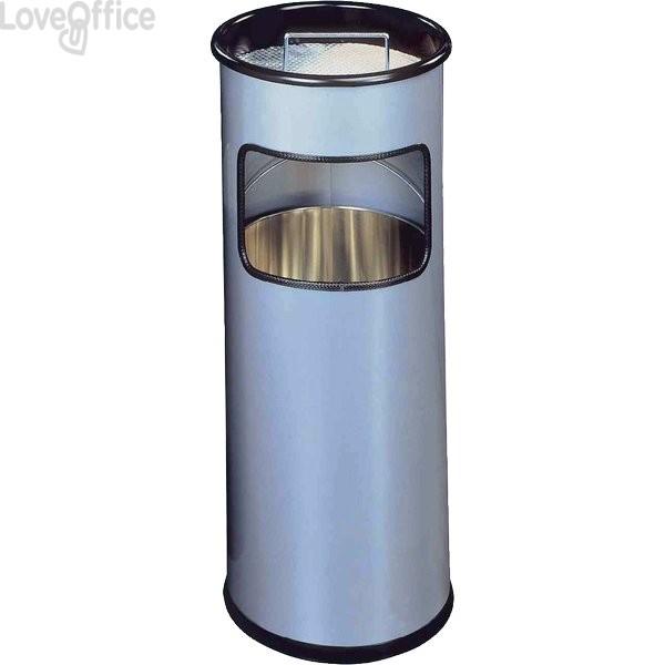 Posacenere in metallo con sabbia Durable - argento - 62x26 cm
