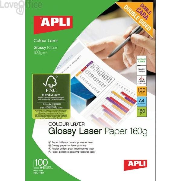 Carta fotografica fronte retro lucida - laser Decadry - A4 - 160 g (conf.100)