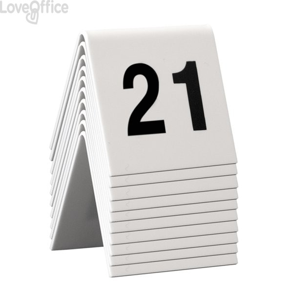 Segnaposto set da n° 21 a n° 30 Securit TN-21-30 (conf. 10)