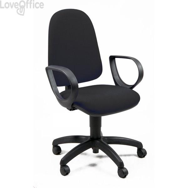 Sedia da ufficio eco-smart JUPITER UNISIT - polipropilene - nero