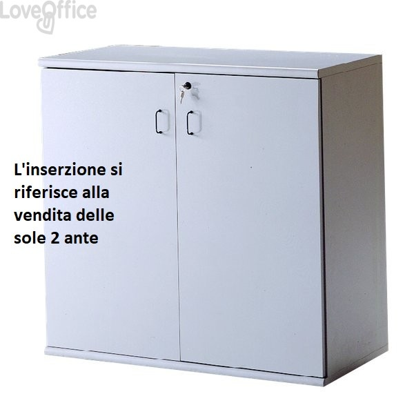 Coppia di ante per Mobile BYTE - Grigio - 45x1,8x85 cm (per Mobile BT7851)