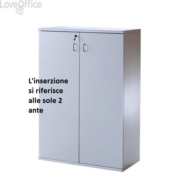 Coppia di ante per Mobile BYTE - Grigio - 45x1,8xh125 cm (per Mobile BT7863)