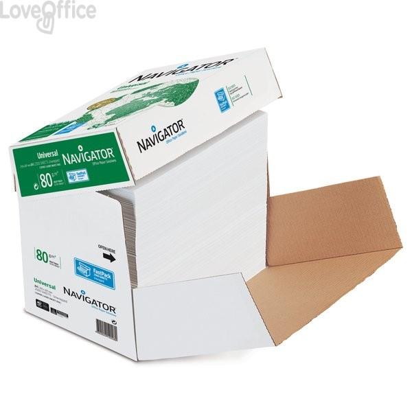 Conf. 2500 fogli carta per fotocopie Navigator Box non stop - A4 - 80 g/mq (NO risme)