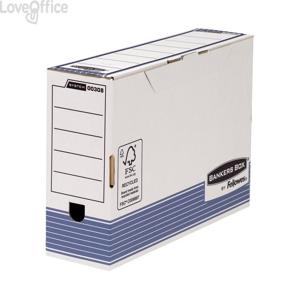 Contenitori Archivio Legal Dorso 10 cm Bankers Box System Fellowes - 36x10x25,5 cm (Conf.10)