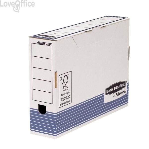 Contenitore archivio Legal dorso 8 cm R-Kive Prima Fellowes - 8,5x36,6x25,8 cm (conf.10)