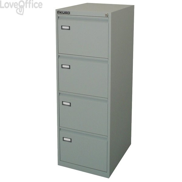 Classificatore Kubo Bertesi - grigio - 4 cassetti - 47x62x132 cm