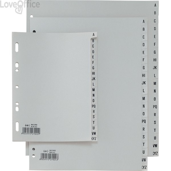 Separatori alfabetici A5 per rubriche - Sei Rota Record - PP - 15x21 cm
