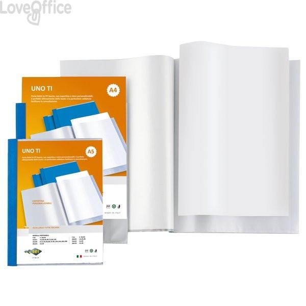 Portalistino A5 - Sei Rota Uno TI - personalizzabile - 15x21 cm - 24 buste - Blu