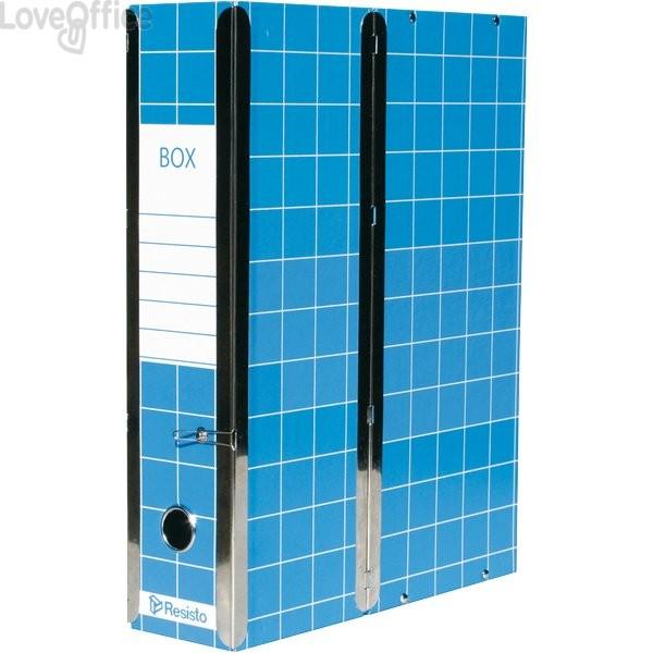 Scatola con cerniera Box 1 Resisto - 28x35x8,5 cm - 9 cm - Blu