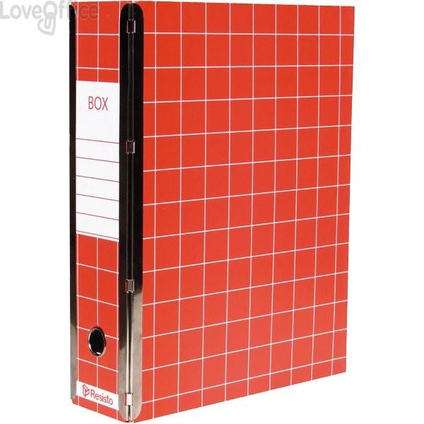 Scatola con cerniera Box 4 Resisto - 28x35x8,5 cm - 9 cm - Rosso