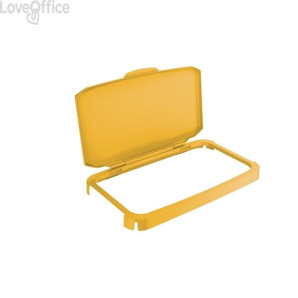 Coperchio contenitore Durabin per raccolta differenziata Durable - 51x28,5x7,3 cm - giallo - 1800500030