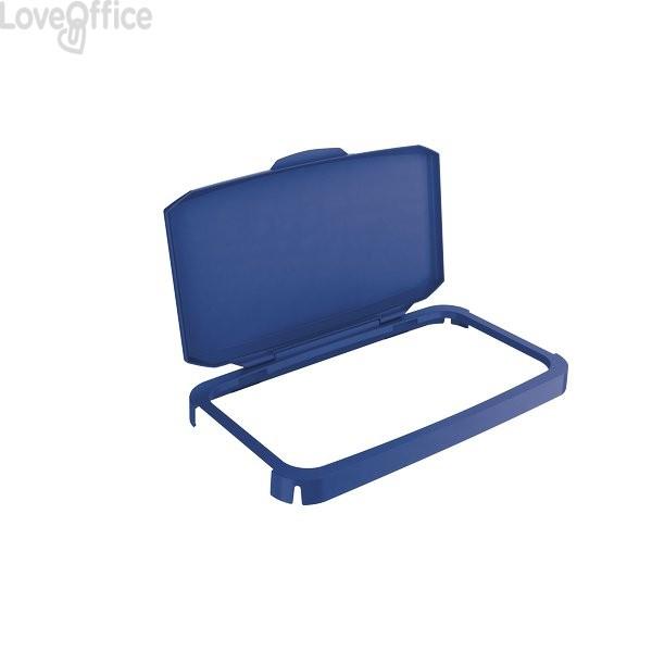 Coperchio per contenitore Durabin raccolta differenziata Durable - 51x28,5x7,3 cm - blu - 1800500040