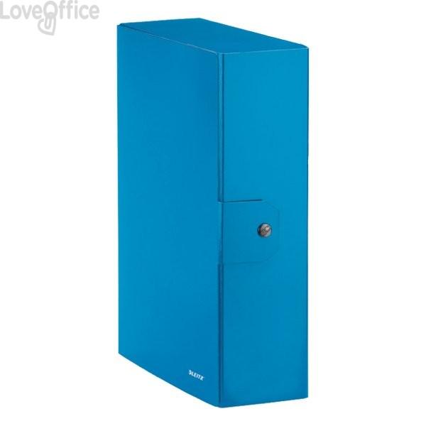 Cartella a scatola WoW Leitz - 10 cm - Azzurro metallizzato