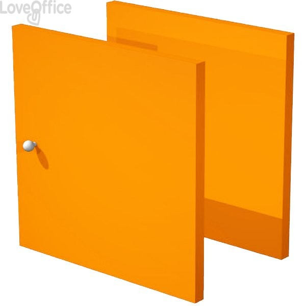 Set due antine Libreria caselle Maxicube Artexport - 32,2x32,1x1,6 cm - Arancione - 2a MaxC/O