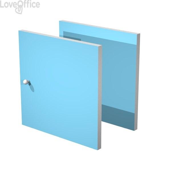 Set due antine Libreria caselle Maxicube Artexport - 32,2x32,1x1,6 cm - azzurro - 2a MaxC/A