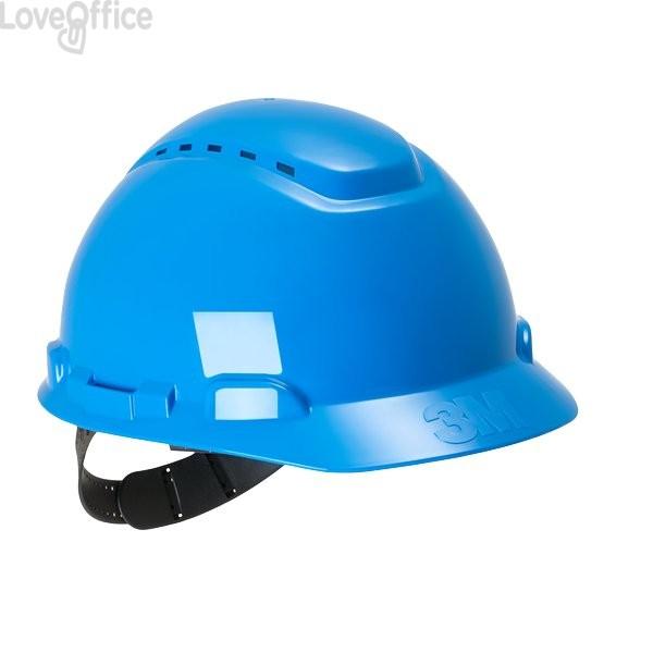 Elmetto da cantiere H-700N 3M - Con cricchetto - azzurro