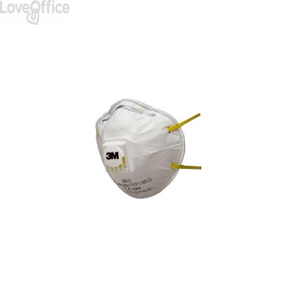 Respiratore antipolvere 3M 8812 - FFP1 NR D - polveri, fumi e nebbie - bianco - 2036 (Conf. 10 pezzi)