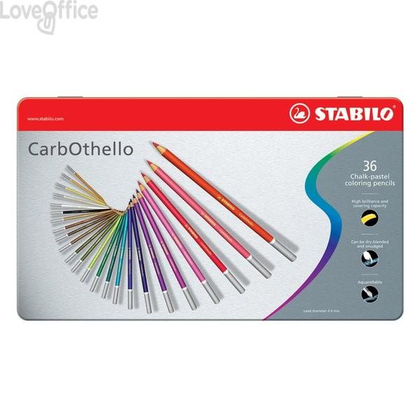 Matite colorate CarbOthello Stabilo - Scatola in metallo (conf.36)