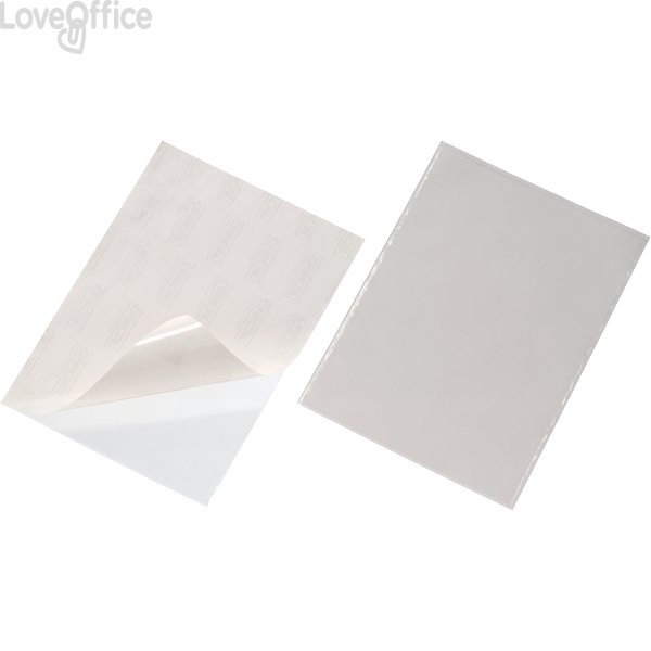 Tasca adesiva Durable - A4 - apertura lato superiore - 8096-19 (conf.25)