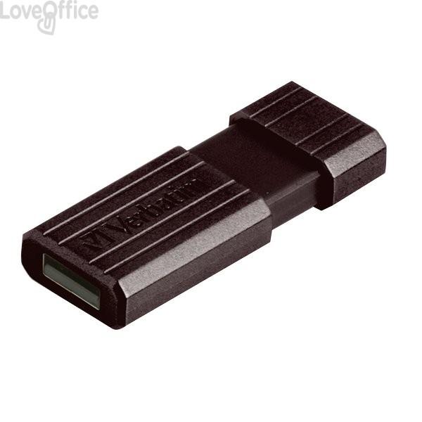 Chiavetta USB Store 'n' Go Pinstripe Verbatim - 16 GB - USB 2.0 flash drive - nero - 49063