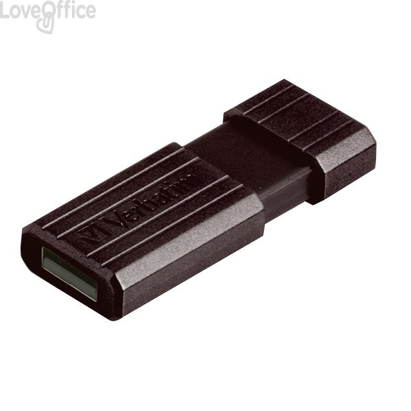 Chiavetta USB Store 'n' Go Pinstripe Verbatim - 32 GB - USB 2.0 flash drive - nero - 49064