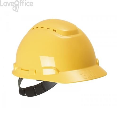 Elmetto da cantiere H-700N 3M - Con cricchetto - giallo - 85351