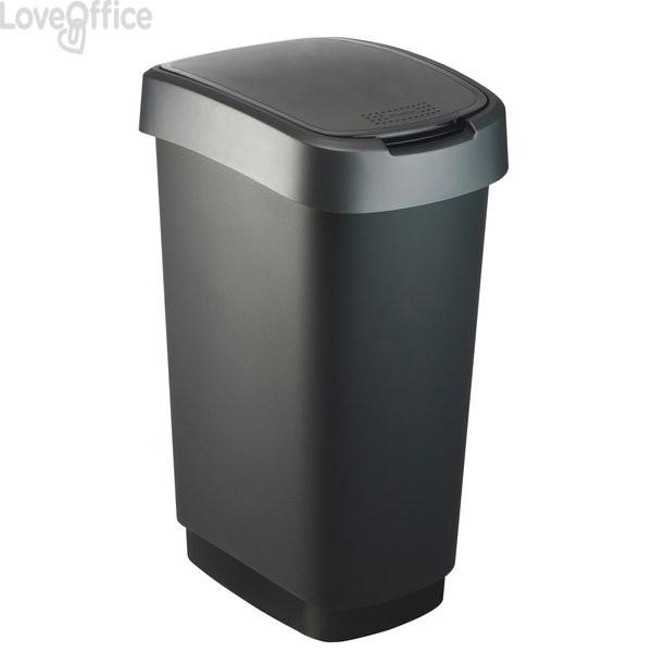 Cestino basculante Rotho - 40,1x29,8x60,2 cm - grigio/blu - F600029