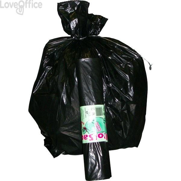 Sacchi neri per immondizia Cagliplast - 120 l - 80x100 cm (conf.100)