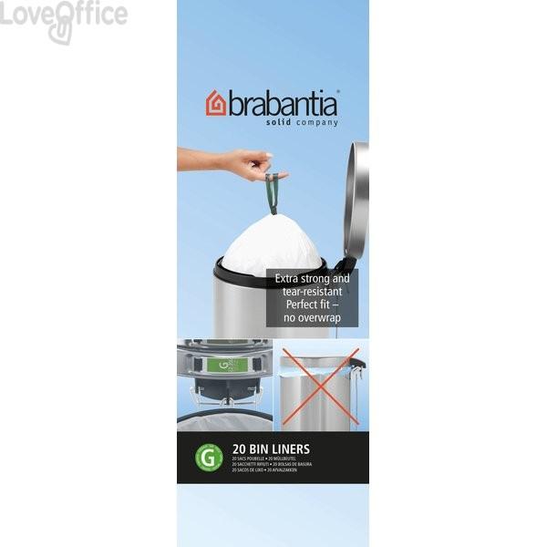 Sacchetti con manici Brabantia - 30 l - bianco - 246265 (conf.20)