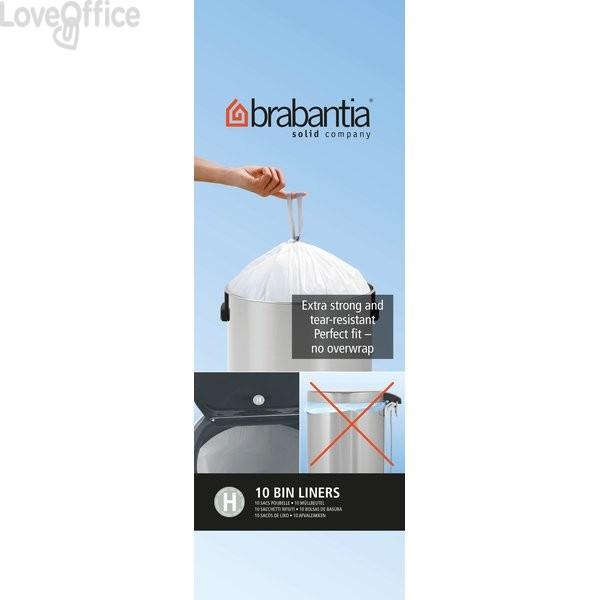 Sacchetti con manici Brabantia - 50 l - bianco - 246784 (conf.10)
