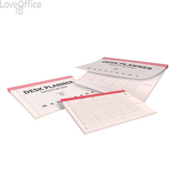 Desk planner settimanale Monocromo Pigna - 29x42 cm - 60 fogli