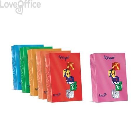 Risma carta colorata A4 Le Cirque Favini - A4 - 80 g/mq - Rosa ciclamino astrale (risma500)