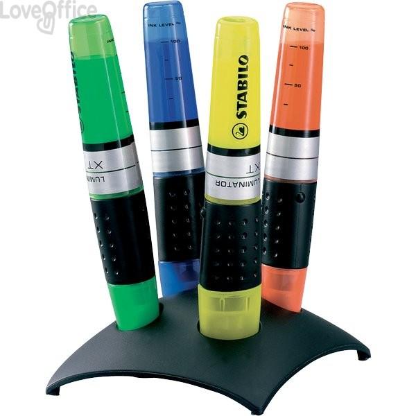 Set evidenziatori Stabilo con desk in plastica - Luminator - Assortiti - 2-5 mm (conf.4)