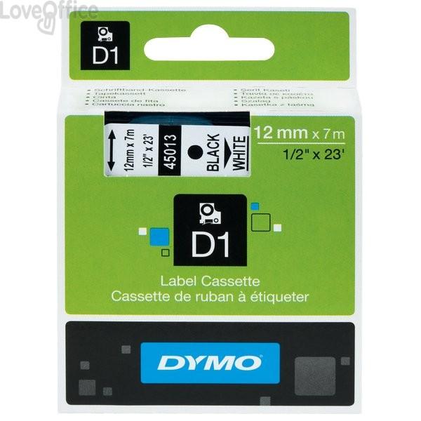 Nastro Dymo D1 - 12 mm x 7 m - nero/trasparente - S0720500