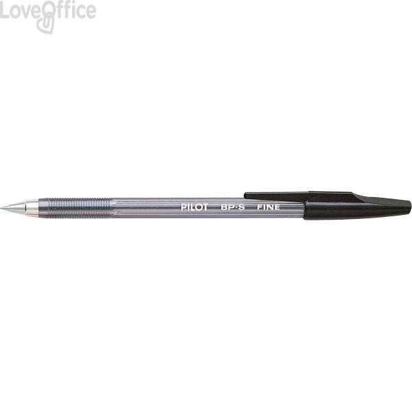 Penne a sfera BP-S Pilot - nero - 0,7 mm (conf.12)