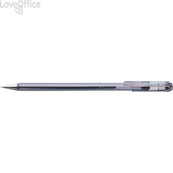 Penne a sfera Superb Pentel - nero - 0,7 mm (conf.12)