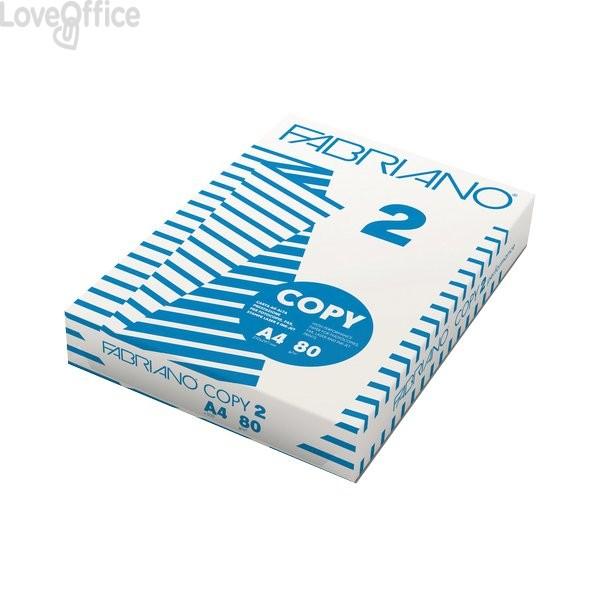 Carta A3 Copy 2 Fabriano - Risma carta - 80 g/mq - 103 µm (500 fogli)