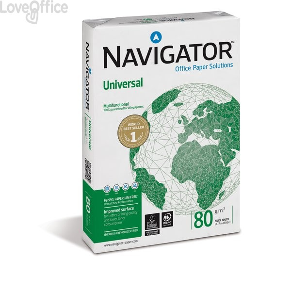 Risma carta A3 Universal Navigator - 80 g/mq - 500 fogli