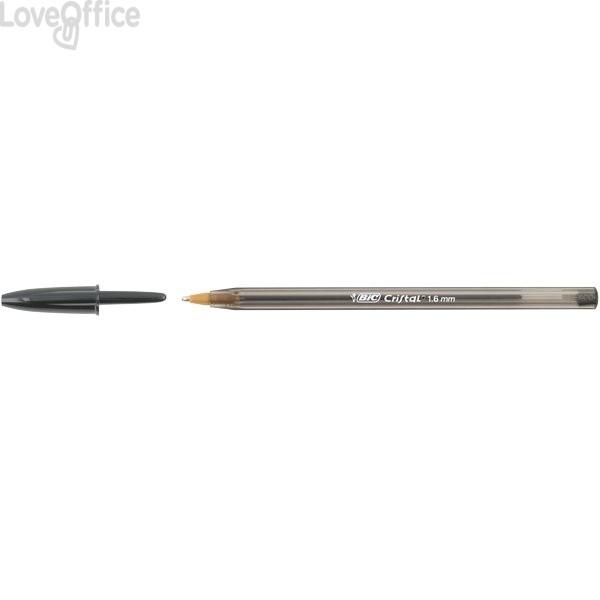 Penne a sfera Cristal® Bic - Large - blu - 1,6 mm - cappuccio (conf.50)