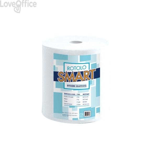 Asciugatutto Lucart - Pura cellulosa - 2 veli - 800 strappi - 200 m - 851159 (conf.2 rotoli)