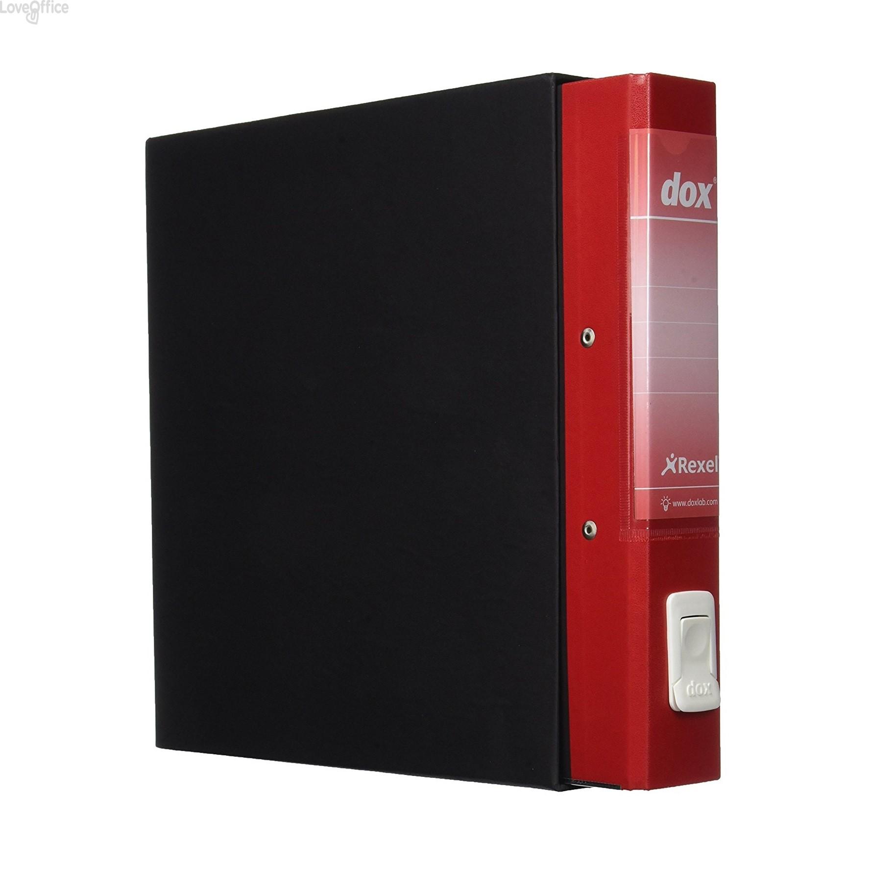 Registratore a leva Dox 4 - Commerciale - dorso 5 cm - 23x29,7 cm - rosso - D26411