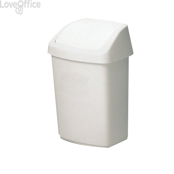 Cestino con coperchio basculante Rubbermaid - 34,6x27,8x51,1 cm - 25 l - bianco - 03986-026- R000877