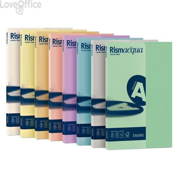 Risma cartoncini colorati - Rismacqua Favini Small - A4 - 200 g/mq - avorio (50 fogli)