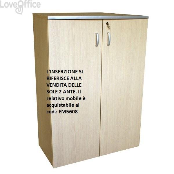 conf. 2 ante mobile a giorno Alessandria Unisit - 45x1,8x125 cm
