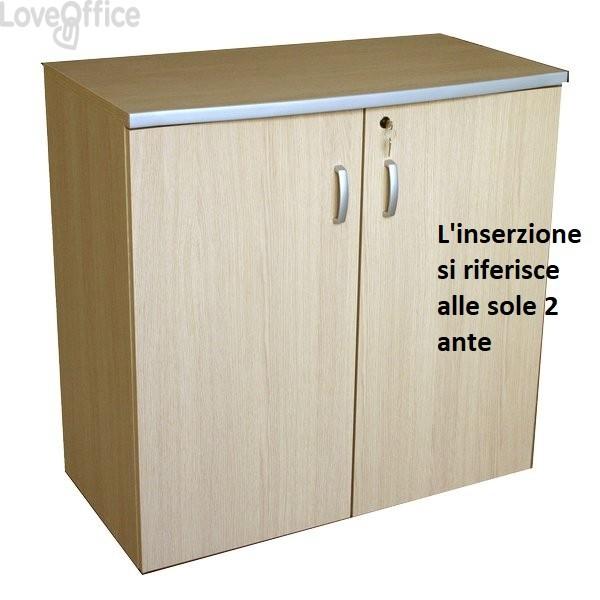 conf. 2 ante mobile a giorno Alessandria Unisit - 45x1,8x85 cm
