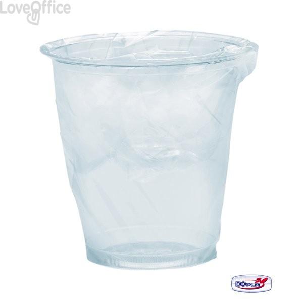 Bicchieri in plastica trasparente Diamant DOpla - Imbustato singolarmente - 200 cc (conf.200)