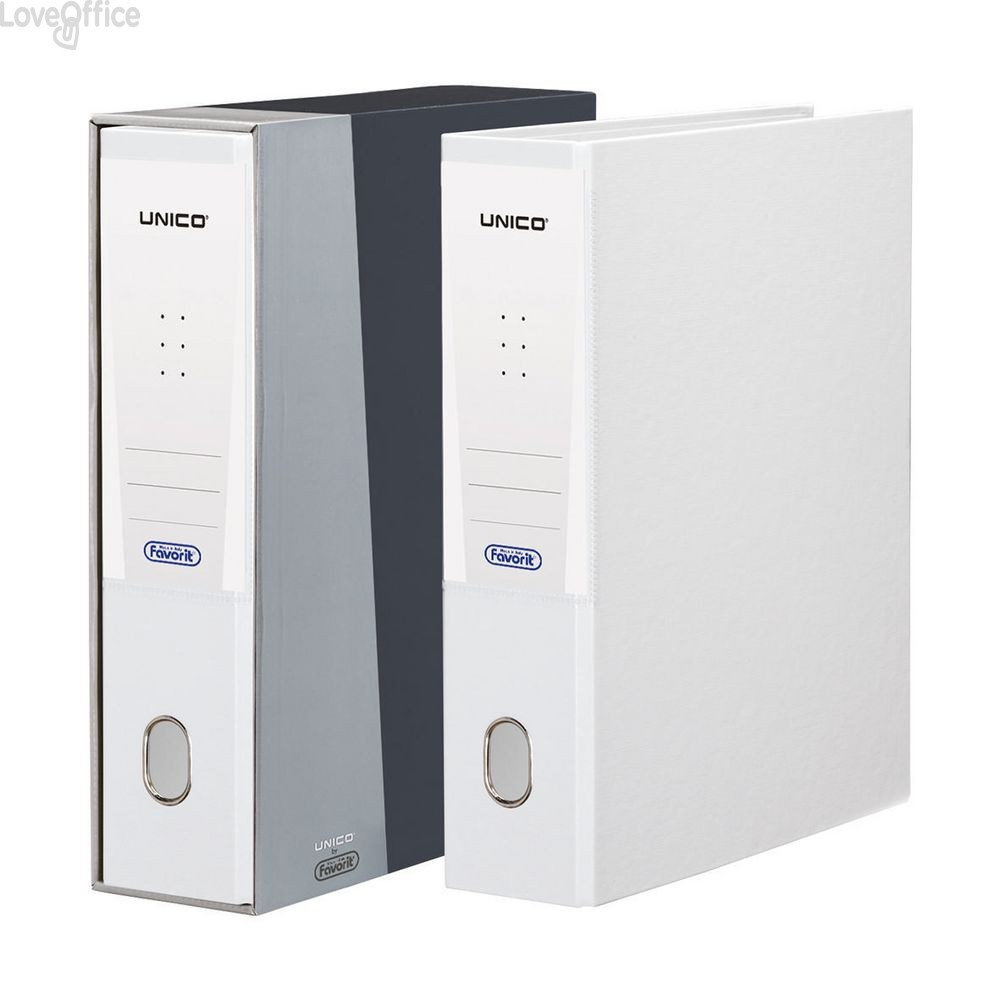 Registratore Unico con custodia Elba formato Protocollo - 23x33 cm - dorso 8 - bianco - 100460518